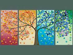 33 Ideas para crear y decorar cuadros con botones.
