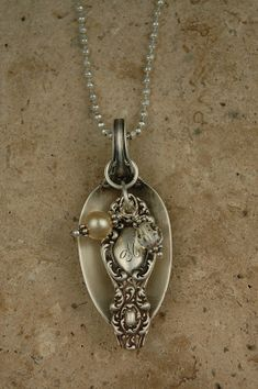 SPOON & HANDLE COMBINATION - Eclectic Earth: Antique Silver Spoon Necklaces