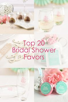 find our top 20 favorite bridal shower favors all in one place