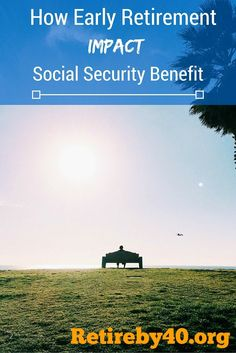 See how early retirement impact social security benefit. Early retirement will decrease my social security benefit, but not by a huge amount.