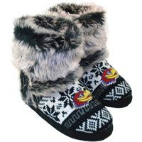 Kansas Jayhawks Women's Knit Bootie - Black/White