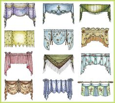 different kinds of valances...good to know