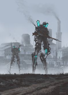 'dark infantry'concept art from my 1920+ series and 'Scythe' game, tesla experimental unit, cheers!