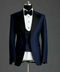Blue Groomsmen Suits, Navy Tuxedos, Blue Tuxedo Wedding, Wedding Suits, Wedding Attire, Tuxedo Suit, Tuxedo For Men, Black Tuxedo, Reception Suits
