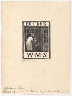 Julius J. Lankes (American, 1894-1960).  Wilbur Macey Stone Bookplate, 1920, Woodcut