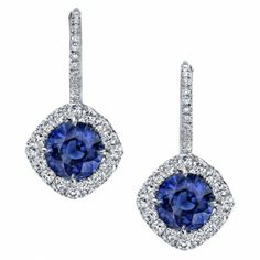 Omi Prive: Sapphire and Diamond Earrings