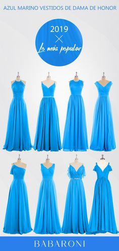 30f028aed0 Las 54 mejores imágenes de Vestidos De Dama De Honor En Azul Marino ...