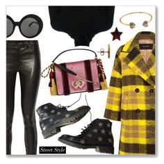"""""""Street Style Look"""" by dressedbyrose ❤ liked on Polyvore featuring J Brand, Pink Tartan, Yves Saint Laurent, Chloé, Linda Farrow, Dsquared2, Gucci and Marc Jacobs"""