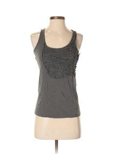 Gap Sleeveless Top: Size 0.00 Gray Women's Tops - $7.99