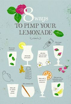 Some ways to pimp your lemonade.  #9 add some basil leaves  Do you have other cool ideas? Leave a comment!