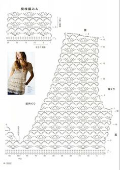 Diy Crafts - Here are a bunch of crochet short dress patterns or long shirts. anyways going to just keep updating this as I find more. Crochet Short Dresses, Vestidos Bebe Crochet, Black Crochet Dress, Crochet Baby Sweaters, Crochet Shirt, Crochet Clothes, Knit Crochet, Crochet Motifs, Crochet Diagram