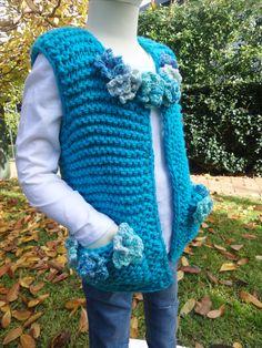 Nakita Knitted Vest Sweater Pattern.  www.etsy.com/shop/crochetrenaissance