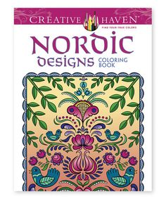 Another great find on #zulily! Creative Haven Deluxe Edition Nordic Designs Coloring Book #zulilyfinds