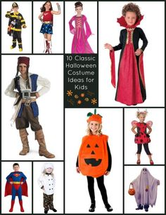 10 Classic Halloween Costume Ideas for Kids