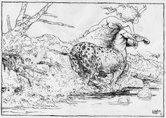 L'offrande IV - Illustration par Régis Loisel - Œuvre originale