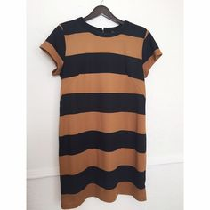 H&M bold stripe dress Excellent condition! Only worn a couple of times, SO cute with boots or sandals! You can dress it up or wear it casually, it's a great staple piece. It hits right above my knees and I'm 5'4. I wear both medium/large and this fits great! H&M Dresses Mini