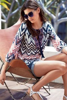 Buy Printed Tassel Blouse from the Next UK online shop