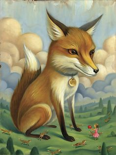 'Radiolab' episode about a Russian geneticist who domesticated a wild fox. Chris Buzelli, illustrator.