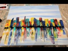 Abstract painting / Easy way to create / Palette knife / Acrylics / Demonstration - YouTube