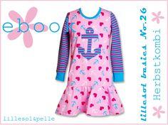 Ebook / Schnittmuster lillesol basics No. 26 Herbstkombi Kleid & Shirt