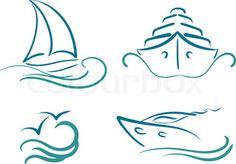 wave outline drawing - Google Search