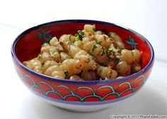 "Crosnes (Chinese artichokes or betony - similar to sunchokes) sauteed in butter - pronounced ""crones""."