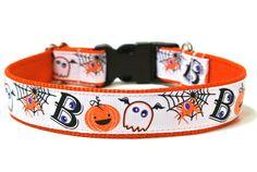 Halloween Dog Collar 1 Boo Dog Collar by Wagologie