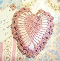 Vintage crochet pin cushion