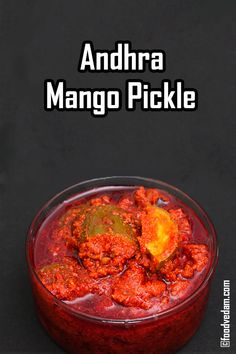 Andhra Mango pickle is a very tasty.at some point of time you might get bored of eating Non-vegetarian or any other usual recipes. Andhra Recipes, Paneer Recipes, Indian Food Recipes, Vegetarian Recipes, Cooking Recipes, Ethnic Recipes, Paratha Recipes, Pickle Pizza Recipe, Indian Pickle Recipe