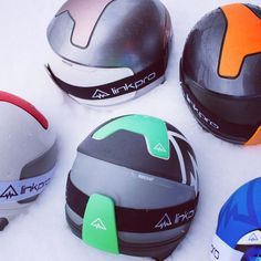 LinkPro plans to offer interchangeable panels for creating all kinds of color combinations Tech Image, Kinds Of Colors, Helmet Design, Bicycle Helmet, Color Combinations, Riding Helmets, Skiing, Communication, Suitcase