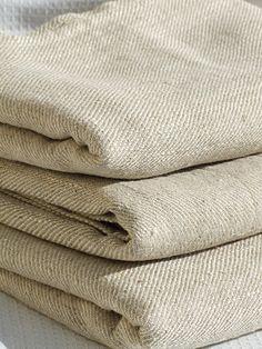 Beige Huckaback Linen Bath Towel Twill - LinenMe