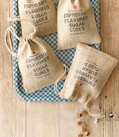 Easy to make, great to give as gifts, and fun to use, these caffeine-spiked sugar cubes do it all. They make fun stocking stuffing for adults and are perfect to put in your coffee Christmas morning or a rich mug of cocoa. Recipe: Espresso-Flavored Sugar Cubes   - CountryLiving.com
