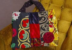 Suzani mix print tote  it's not a pillow