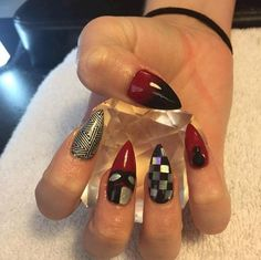 16 Red And Black Manicures Even Harley Quinn Would Be Jealous Of Nail Designs