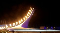 Olympic Cauldron at Sochi opening ceremony