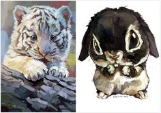 Art by Chinese illustrator 雪娃娃 Xue Wawa. Super cute.
