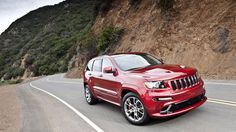 Jeep® Grand Cherokee SRT8® shown in Deep Cherry Red Crystal Pearl.