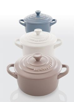 The new Le Creuset matte collection. Gorgeous!