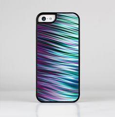 The Pink & Blue Vector Swirly HD Strands Skin-Sert for the Apple iPhone 5c Skin-Sert Case