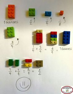 Stefan Keuchel on Fractions with LEGO :] Math For Kids, Diy For Kids, Crafts For Kids, Learning Activities, Kids Learning, Activities For Kids, E Mc2, Simple Math, Easy Math