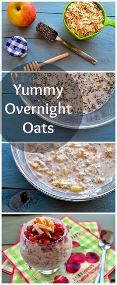 Ingredients  1 cup old fashioned oats  2 tbsp chia seeds  1 cup vanilla almond milk (we use Silk Pure Almond)  2 organic apples  2 tbsp h...