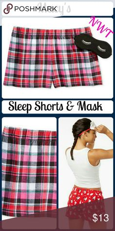 NEW Printed Boxer Pajama Shorts & Eye Mask Set Jenni by Jennifer Moore Printed Boxer Pajama Shorts and Eye Mask Set, Only at Macy's. In the wink of an eye mask, combined with comfy cotton sleep boxers, Jenni by Jennifer Moore brings some flirty fun to sleep time. -Pull-on styling, elastic waistline -All cotton fabric for soft comfort -Hits at upper thigh -Set includes eye mask -Only at Macy's -All cotton -Machine washable Macy's Intimates & Sleepwear Pajamas