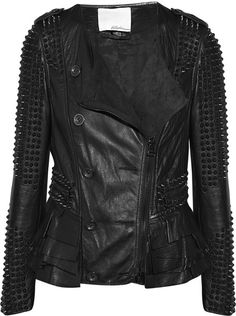 3.1 Phillip Lim ~ Stud-embellished Leather Jacket