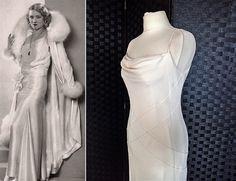 Vintage Wedding Dress Silk Wedding Dress 1930s Style Wedding Dress Cowl Neck Dress Bias Cut Dress Beaded Wedding Dress Silk Dress by STILLCHIC on Etsy