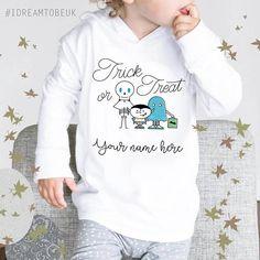 Trick or treat Halloween Hoodie  personalised hoodie childs