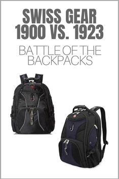 In this review, we take a look at a couple backpacks from the company that brought you the Swiss Army Knife. This detailed comparison review of the Swiss Gear 1900 and 1923 backpacks will help you quickly decide which one is for you.  #backpacks #travelbackpacks #travelgear #swissgear Bring It On, Take That, Backpack Reviews, Swiss Army Knife, Gears, Battle, Backpacks, Suitcases