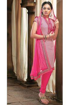 Candid Cotton Deep Pink Salwar Suit Suit
