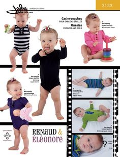 3133 Onesies Pattern Cover
