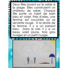 Activité: Compréhension orale French Sentences, Communication Orale, Core French, French Education, Grande Section, French Resources, Career Choices, French Immersion, Comprehension
