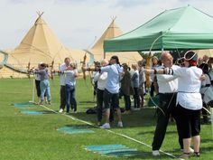 World Inspired tipis for company team building events